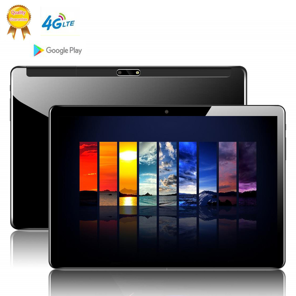Phablet Tablet Screen Mutlti Touch Android 9.0 Octa Core Ram 6GB ROM 64GB Camera 8MP  Wifi 10 Inch Tablet 4G LTE Pro Pc 10.1