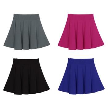 New New Women Skirt Sexy Mini Short Skirt Fall Skirts Womens Stretch High Waist Pleated Tutu Skirt SCI88 3