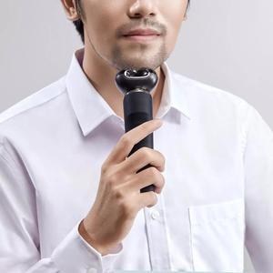 Image 4 - Youpin MSN su geçirmez akıllı elektrikli tıraş makinesi büyük LCD ekranlı akülü tipi c şarj edilebilir kuru ıslak tıraş jilet kendinden yıkama