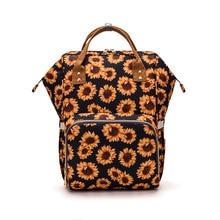 Baby Diaper Backpack Nursing Nappy Changing Bag Cactus Sunflower Print Mummy Bags Large Capacity Infant Stroller Bag MBG0447