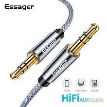 Essager Aux kablosu hoparlör kablosu 3.5mm Jack ses kablosu için araba kulaklık adaptörü erkek Jack Jack 3.5mm kablosu Samsung Xiaomi