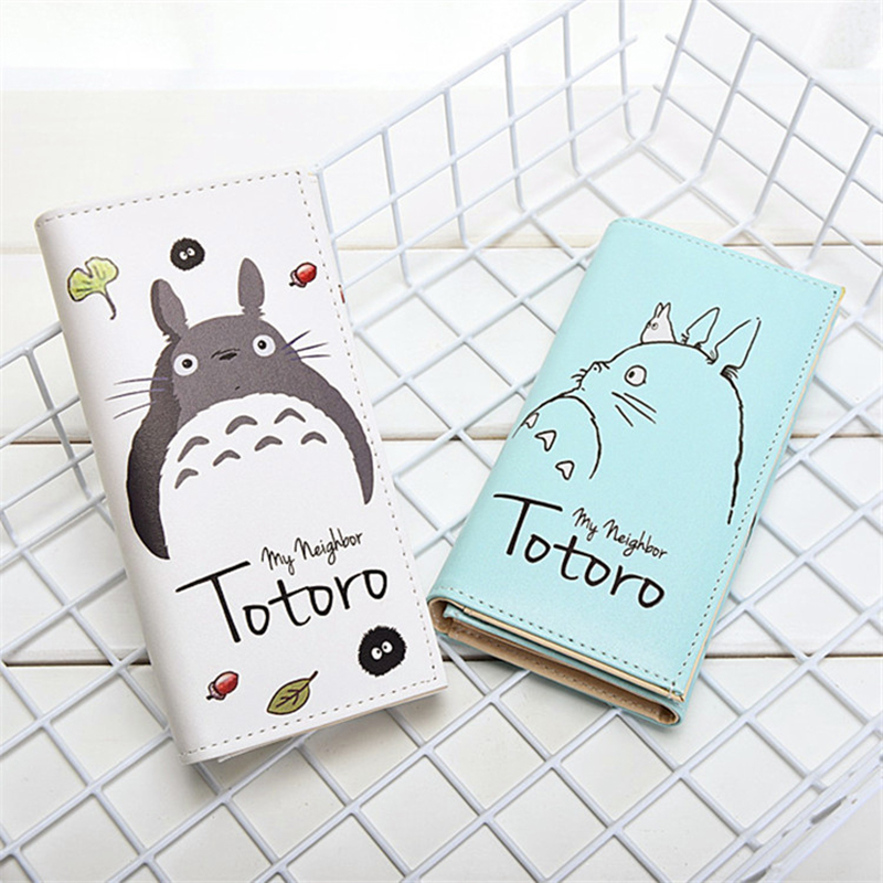 2019 New Fashion PU Leather Women Cartoon My Neighbor Totoro Wallets Lovely Coin Pocket Ladies Long Clutch Card Holder Purse