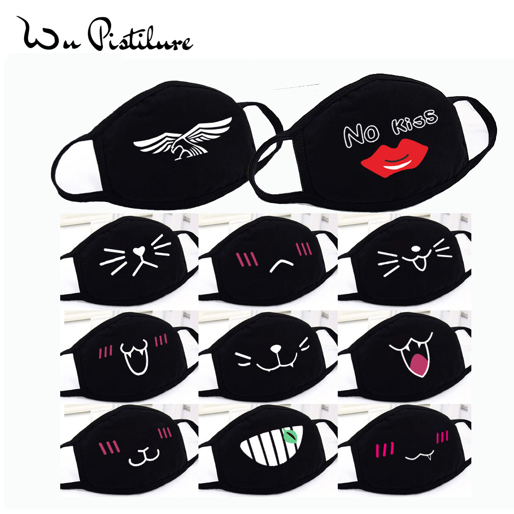 Cotton Cartoon Anime Mask Winter Warm Mouth Fabric Mask Dust Mask Cartoon Face Dustproof Cotton Anti Reusable Double Mouth Mask