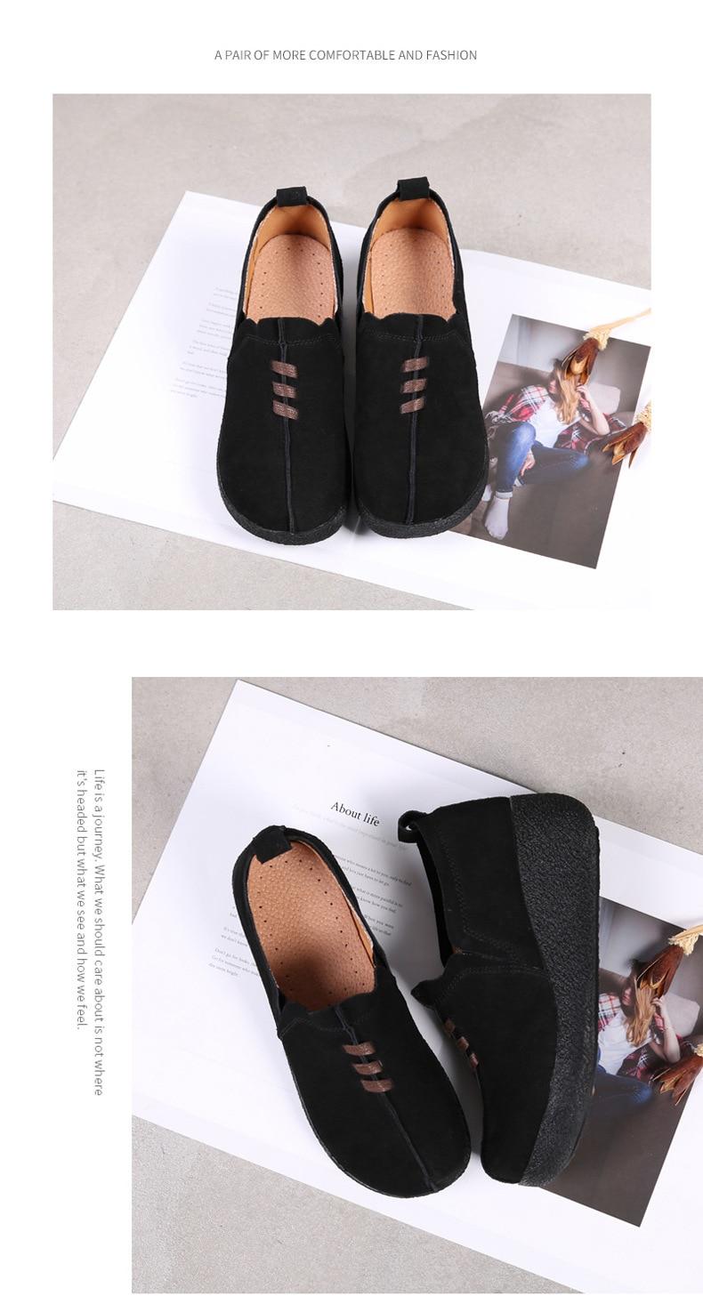 Feminino Plataforma Flats Slip On Plus Size Coreano 42 43 LLX-3022