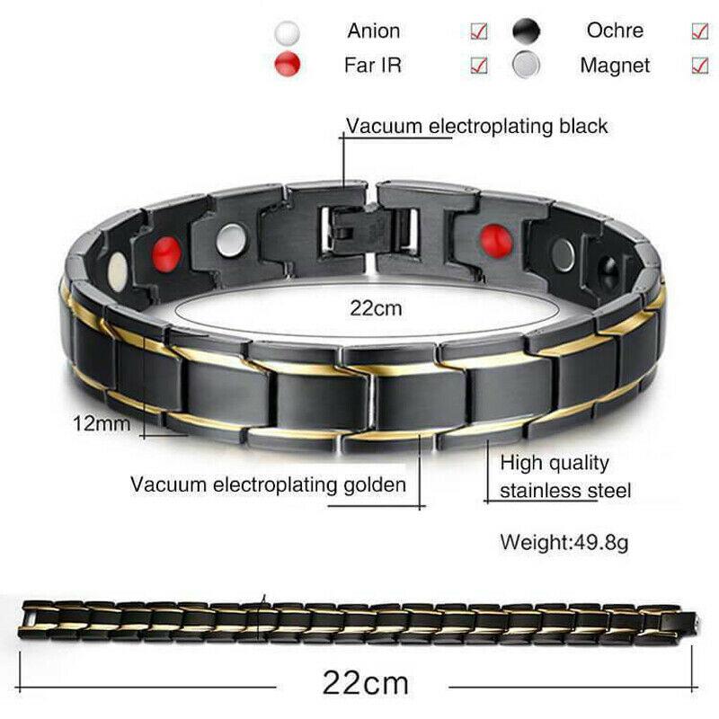 2019 Therapeutic Energy Healing Bracelet Women Men Couple Jewelry Titanium Steel Magnetic Therapy Bracelet