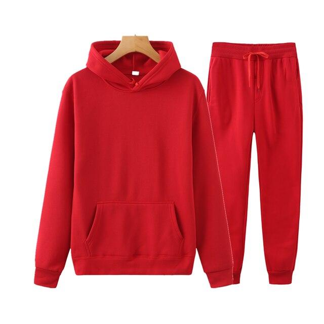 Ladies Suit Hoodie + Pants Fall/Winter Hooded Sweatshirt Sweatpants Fashion Slender Ladies Suit Hoodie Pants Pullover Hoodie 6