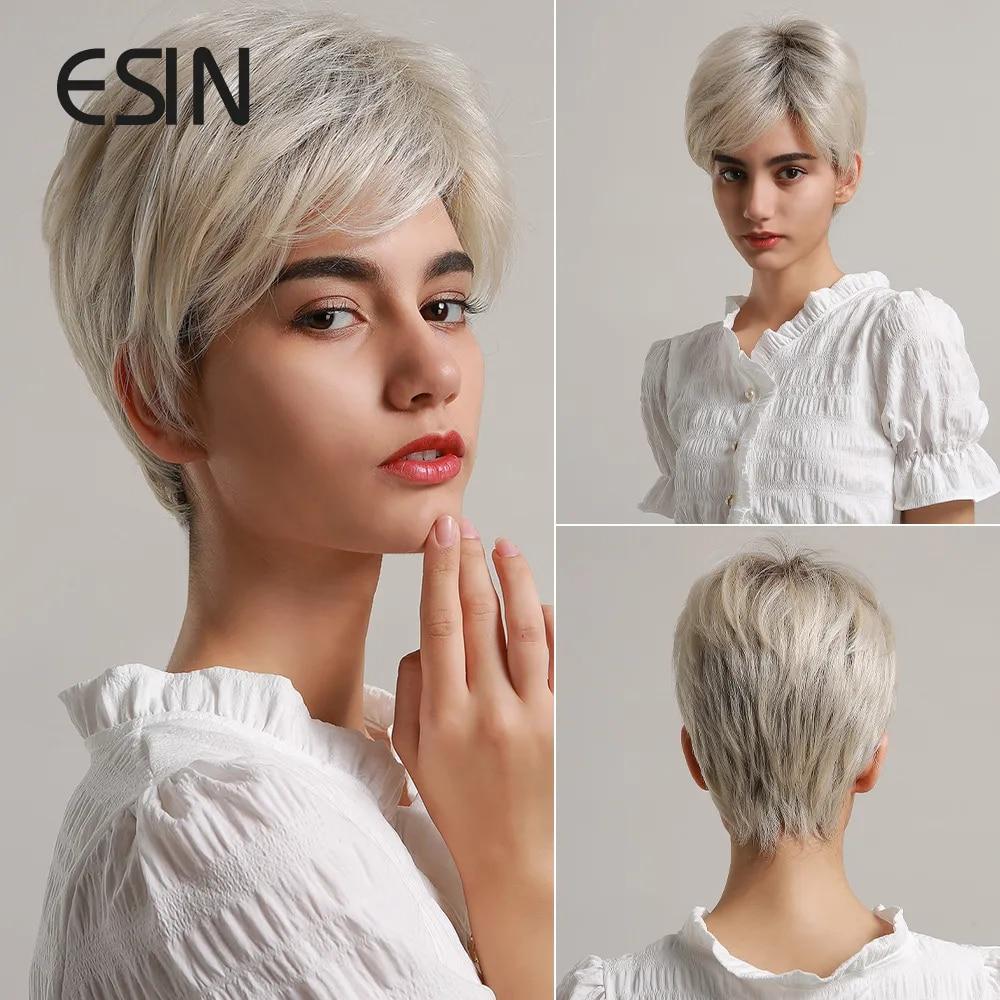 Graue kurze haare