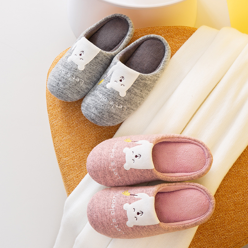 Winter Warm Home Women Fur Slippers Cute Fox Unicorn Bear Animals Indoor Cotton Ladies Slippers Soft Memory Foam Couples Shoes|Slippers| - AliExpress
