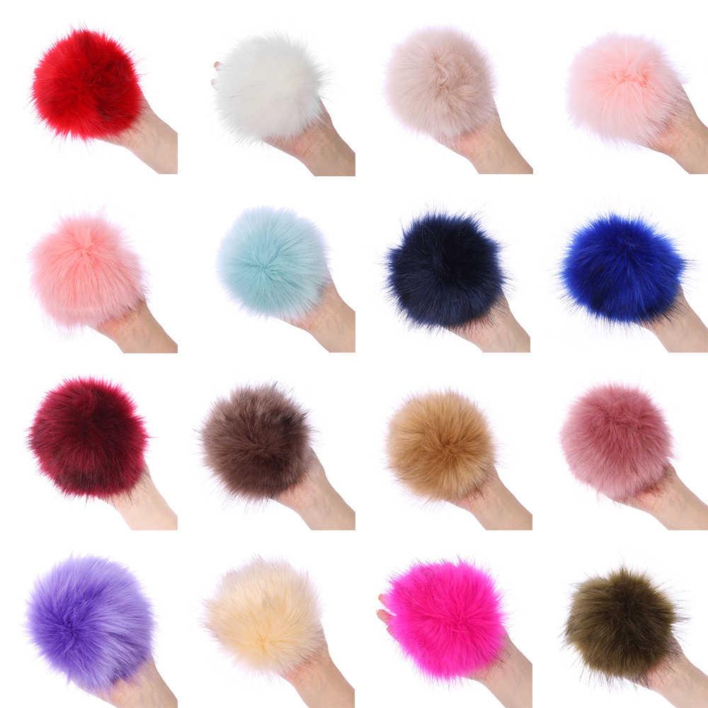 15cm Coloful שועלים פרווה Pompom עבור נשים כובע פרווה פום Poms עבור כובעי כובעי גדול טבעי דביבון פרווה פונפון עבור סרוג כובע כובע
