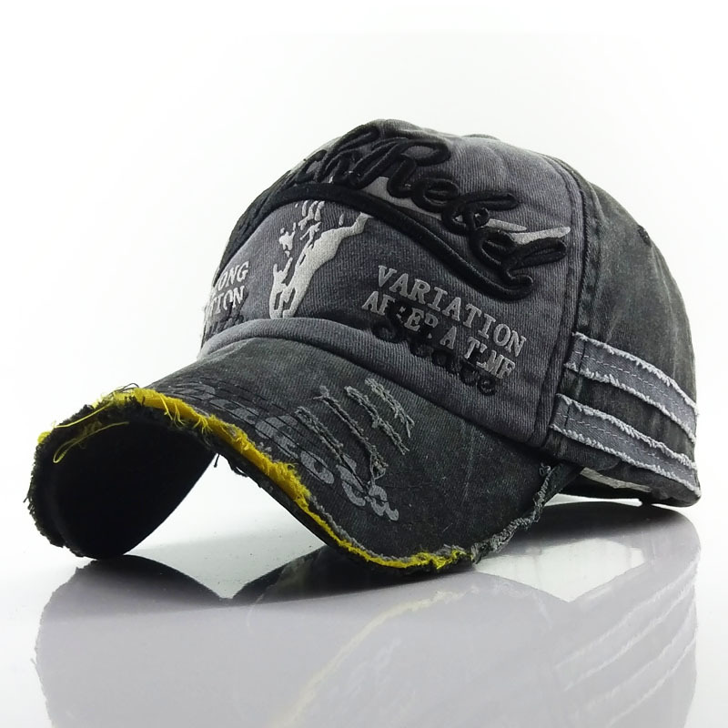 Bull Head Baseball Cap Men Cotton Embroidery Hats Washed Adjustable Caps For Women Unisex Retro Autumn Summer Sunshade Bonnets