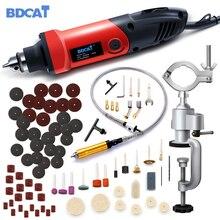 Электрическая дрель BDCAT 400 Вт, мини гравер с переменной скоростью, вращающаяся шлифовальная машина, инструменты для сверления, электроинструменты с принадлежностями Dremel