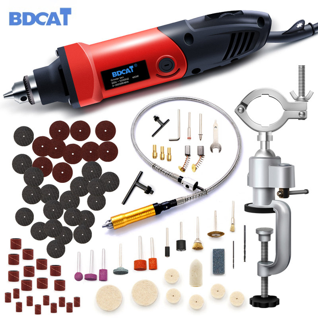 BDCAT 400W elektrikli matkap Mini gravür değişken hızlı döner öğütücü araçları sondaj makinesi güç araçları Dremel aksesuarları