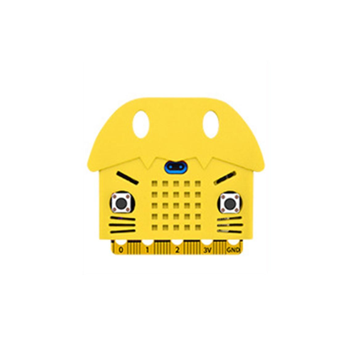 Экологичное уплотнение/тигр/в форме кота силиконовый защитный корпус Крышка корпуса для Micro: Плата расширения бита Bue/красный/оранжевый - Цвет: 2