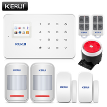 KERUI G18 Alarm System Kit White Wireless GSM Home Security Burglar Sensor Android IOS Phone APP Remote Control