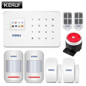 KERUI G18 Alarm System Kit White Wireless GSM Home Security Burglar Alarm System Sensor Kit Android IOS Phone APP Remote Control