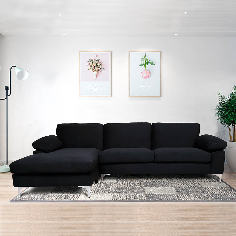 Modern Nordic Sectional Sofa Bed Couch Lounge Set Corner Sofa Adjustable Backrest Apartment Chaise Home Living Room Furniture Aliexpress