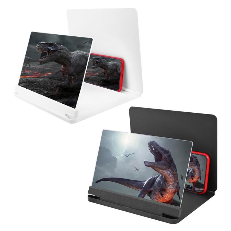 9 Inch Mobile Phone Curved Screen Amplifier HD 3D Video Mobile Phone Magnifying Glass Stand Bracket Phone Foldable Holder