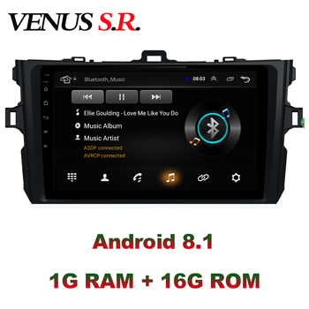 VenusSR Android 8.1 2.5D car dvd for Toyota Corolla Radio 2008-2013 multimedia Radio stereo gps navigation image