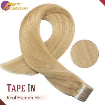 цена на Hot Sale Human Hair Extension Tape in Brazilian Machine Remy Hair #16 Highlight with Blonde Double Sided Tape