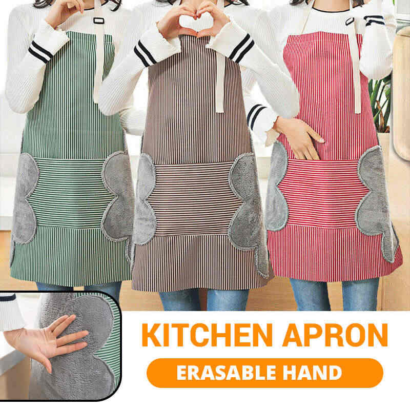 70X72 Cm Fashion Adjustable Home Kitchen Apron Kelas Tinggi Tahan Air Antifouling Celemek Memasak Baking Restoran Dihapus Tangan
