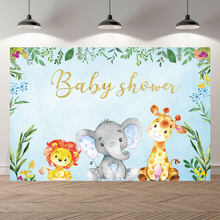 thinvinyl new born elephant BirthdayParty baby shower BannerBackgrounds Printed Professional Indoor Photographic studio Backdrop(China)