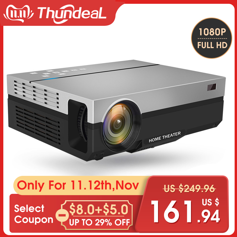 ThundeaL Full HD Projector T26K Native 1080P 5500 Lumens Video LED LCD Home Cinema Theater HDMI VGA USB TV 3D T26L T26 Beamer-in LCD Projectors from Consumer Electronics