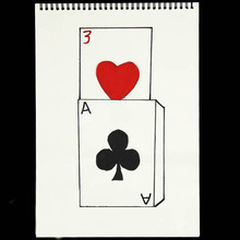 390--260mm Magician Rise-Card Mentalism Stage Illusions Cardiographic Prediction Gimmick-Props