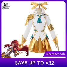 ROLECOS Battle Academia Lux Cosplay Costume LoL Lux Cosplay Lux Prestige Edition Costume Game Women Outfit Halloween Girl Skirt