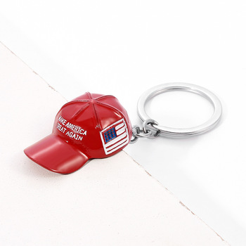 Trump Red Hat Pendant Keychain (Make America Great Again) - Metal Key Chain 1