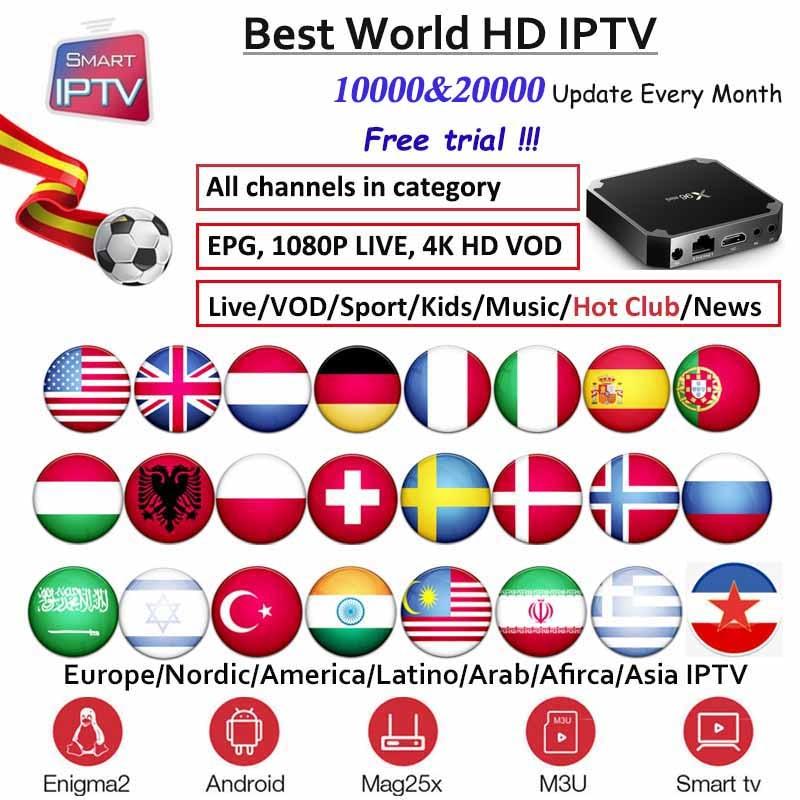 X96mini IPTV Subscription For Europe Germany Dutch Poland  ES Sweden Nordic USA Arabic Indian Albania M3u Android Engima2
