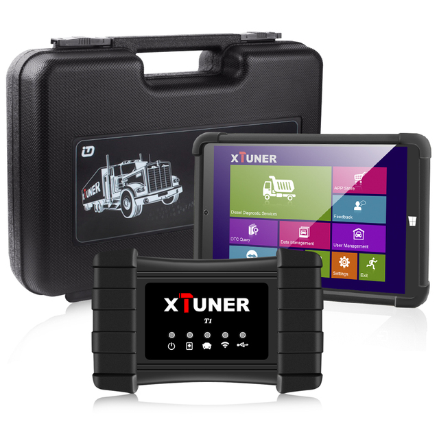 XTUNER T1 HD Heavy Duty Trucks OBD2 Car  Auto Diagnostic Tool With Truck Airbag ABS DPF EGR Reset OBD  Auto Diagnostic Scanner