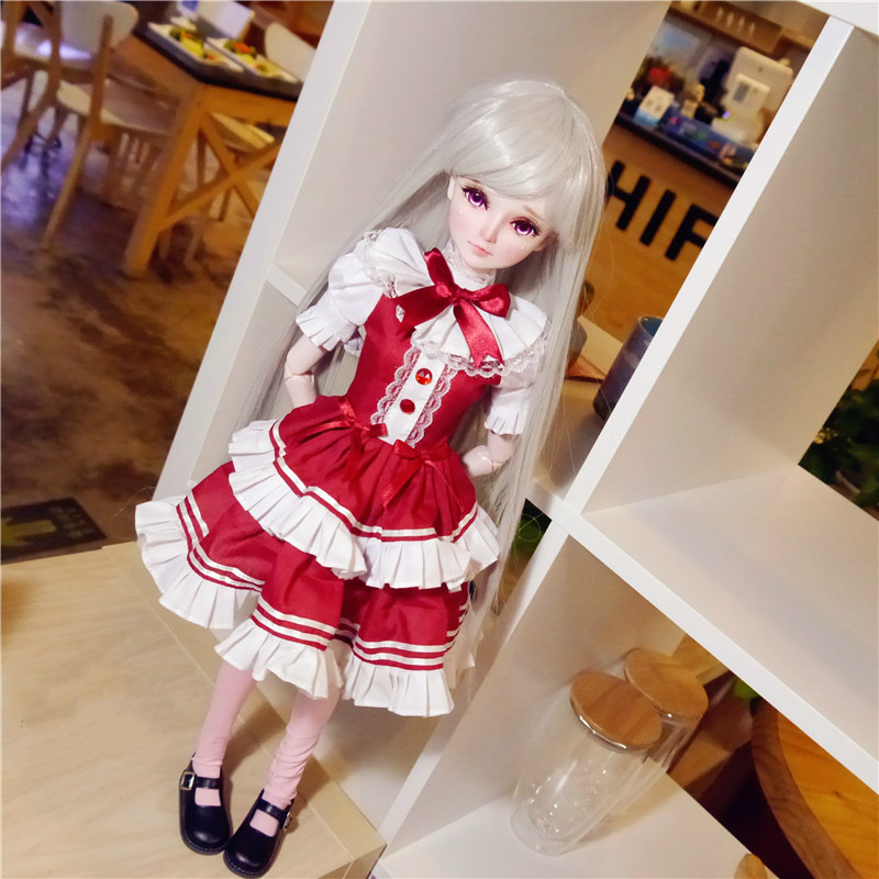 <font><b>Bjd</b></font> Doll <font><b>Clothes</b></font> <font><b>1/3</b></font> <font><b>Sd</b></font> Baby <font><b>Clothes</b></font> Dress Lovely <font><b>Clothes</b></font> Girl Gift Free Shipping Doll Not Include More Style Avaliable image