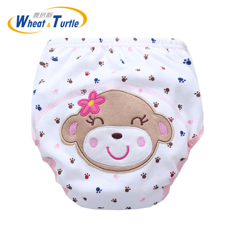 Mother Kids Baby Bare Cloth Diapers Unisex Reusable Washable Infants Children Cotton Cloth Training Panties Nappies Changing