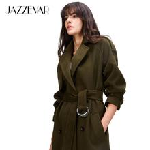 JAZZEVAR 2019 Autumn winter New Women's Casual wool blend tr