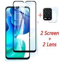 4-in-1 Macchina Fotografica + Vetro Temperato Per Xiaomi Mi 10 Lite 5G Protezione Dello Schermo di Vetro di Protezione vetro Su Xiaomi Mi 10 Lite Obiettivo Pellicola