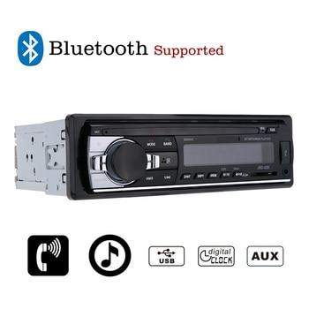 Car Radio 12V Bluetooth V2.0 Car Audio Stereo In-dash 1Din FM Aux Input Receiver SD USB MP3 MMC WMA AutoRadio Player free shippi