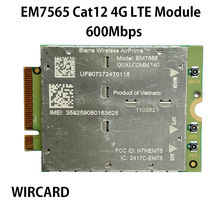 WIRCARD Wireless EM7565 4G LTE CAT-12 600Mbps NGFF Module Cat12 For laptop