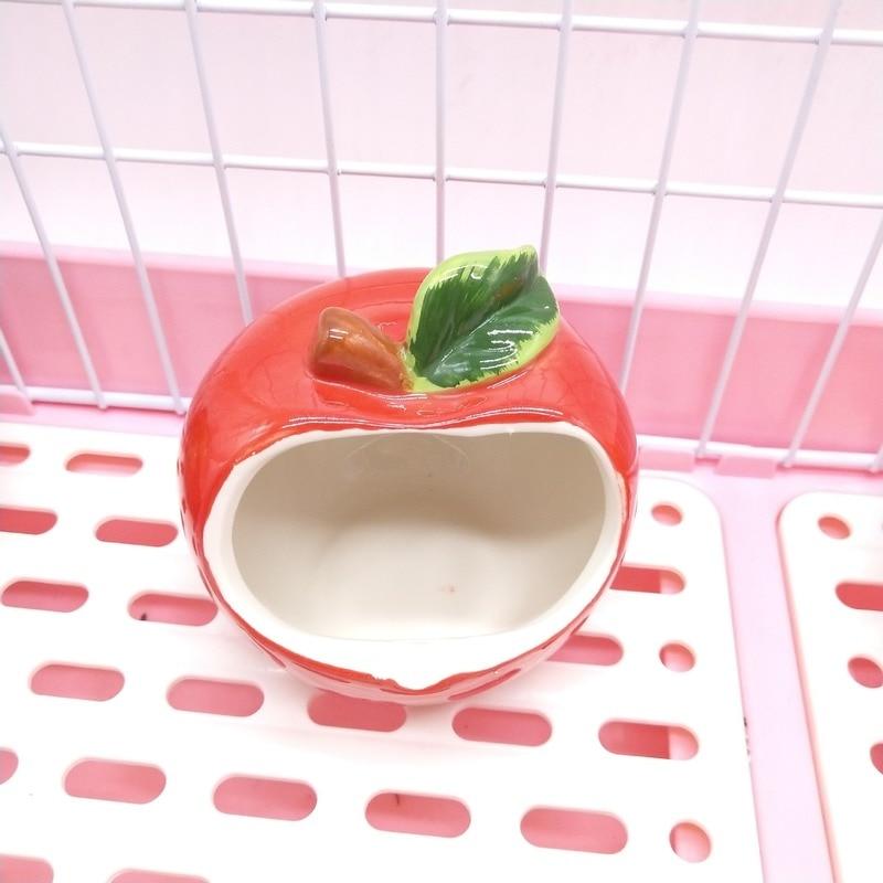 Nette Hamster Keramik Haus Kleine Tiere Totoro Hedgehog Sommer Sommer Kühlung Nest Käfig Cave Geeignet für Kleine Pet Spielzeug