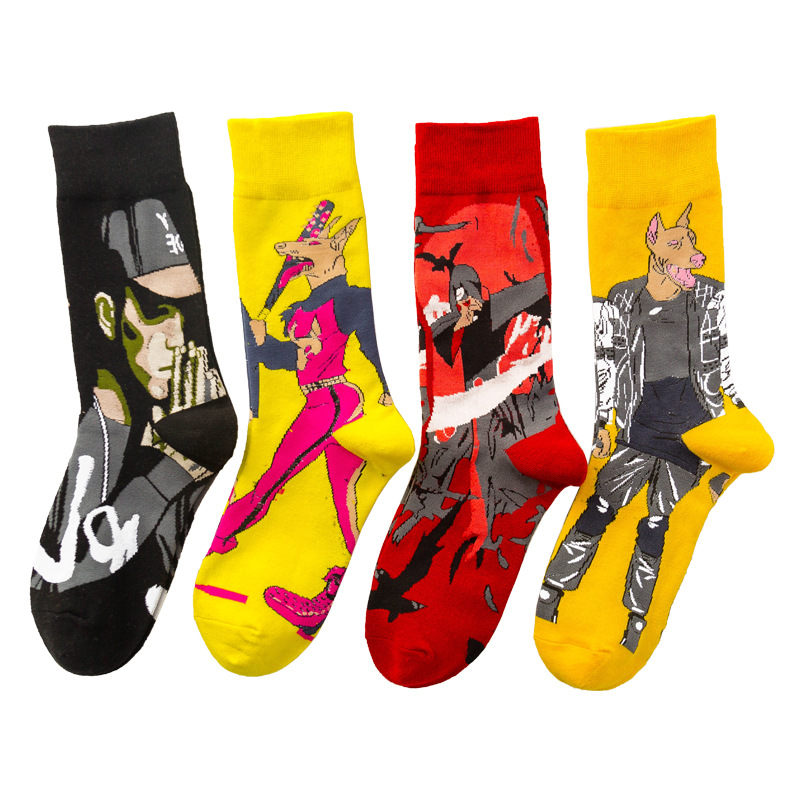 Crew Socks Casual Man Cotton Mens Sox Skateboard Solid Standard Sock Novelty Men Autumn Winter Classic Adult Calcetines Hombre