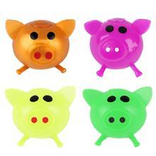 Взрослые дети декомпрессия игрушка вентиляция вода креатив мультфильм свинья голова непоседа давление игрушки рука-глаз координация рука гибкость