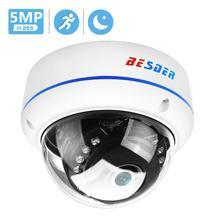 BESDER caméra de Surveillance dôme IP PoE 2MP/5MP/5MP/2592x1944 p, avec protection contre le vandalisme, codec H.265, codec H.265, codec H.265, DC 12V 48V