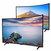 Monitor lcd de 60 pulgadas y pantalla curva inteligente android, TV Dolby DVB-T2 S2, wifi, bluetooth, televisor led