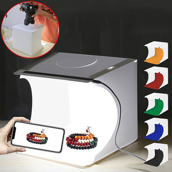 40 50 60cm photography led studio lightbox photo light tent kit tabletop shooting softbox with 3 colors background photo box Folding Portable 1100LM Lightbox Softbox Light Photo Lighting Studio Shooting Tent Photography Box Kit with 6 Colors Backdrops