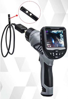3.5 inch 8.5mm 720P Dual Lens HD Hanhdeld Endoscope Inspection Camera 4X Zoom Portable Borescope Side View Otoscope