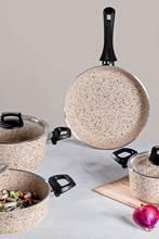 Oasis Pro-Juego de utensilios de cocina de granito, capuchino, 7 piezas