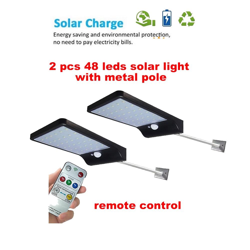 2/4pcs LED Solar Lamp Street Light PIR Motion Sensor Outdoor Waterproof For Garden Path Driveway Emergency Security Night Light