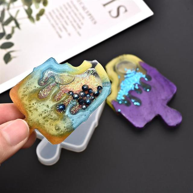Kawaii Shaker Silicone Mold Resin Heart Star Moon Ice Cream UV Epoxy Resin Moulds Key Chain Pendant Craft Tools Jewelry Supplies