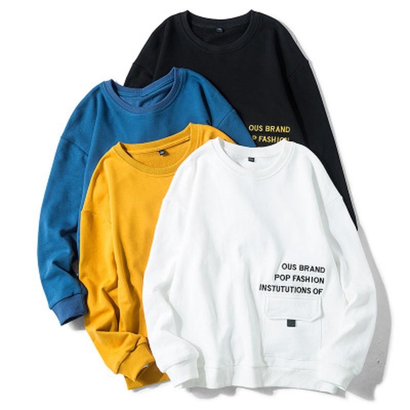 Solid Color Men's Hoodies Streetwear Sweatshirts For Men Long Sleeves Male Hoodies Spring 2020 Fashion Harajuku Gym Clothing