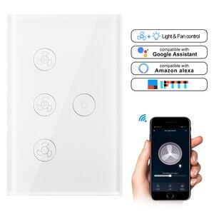 Image 2 - WiFi חכם תקרת אוהד אור קיר מתג חיים Tuya APP מרחוק שונים בקרת מהירות Interruptor תואם עבור Alexa Google בית