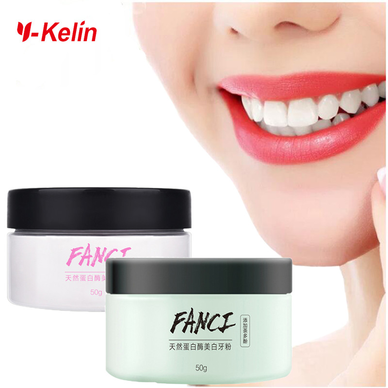 FANCI Teeth Whitening Powder 50g Tooth Powder Toothpaste Charcoal Natural Formula Remove Teeth Plaque  Stains Fresh Breath
